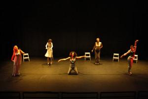 NYC debut. Cast L-R: Allana Harkin, Victoria Murdoch, Patrice Goodman, Sarah Michelle Brown, Nicole Maroon.  Photographer: Nicholas Santasier